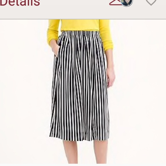 7a79f4ebc7ca J. Crew Factory Dresses & Skirts - J. Crew factory striped pleated midi  skirt